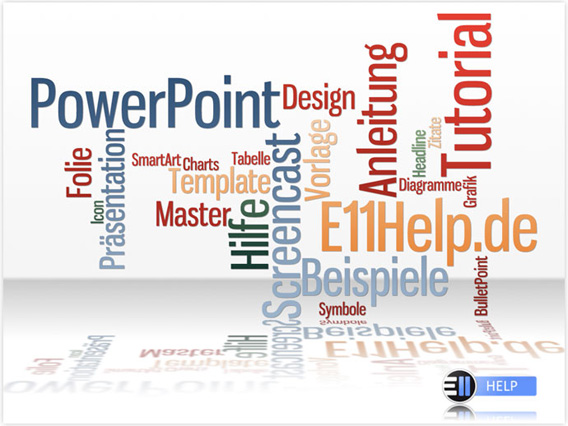 tag cloud in powerpoint folien einsetzen « e11help, Powerpoint templates