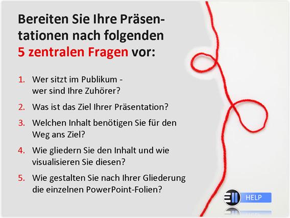 5 zentrale fragen - Gute Powerpoint Prsentation Beispiel